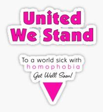 To a World Sick... (White & Clear Version) Sticker