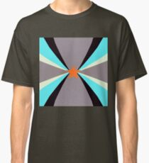 Geometric Sky Blue and Black Classic T-Shirt