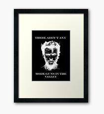 Wolverine BlackBG Framed Print