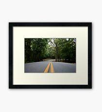 Lake Cumberland Park Road Framed Print