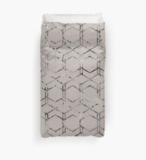 Silver geometric art deco taupe Duvet Cover