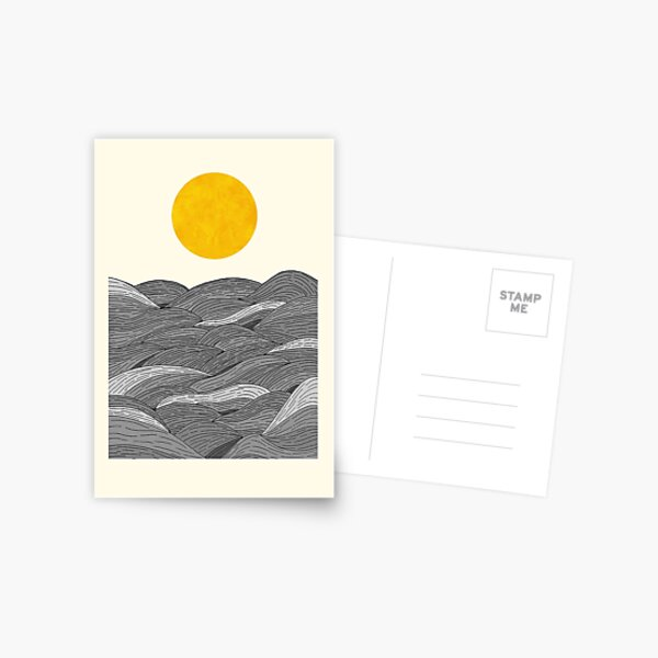 The Grey Waves Postcard
