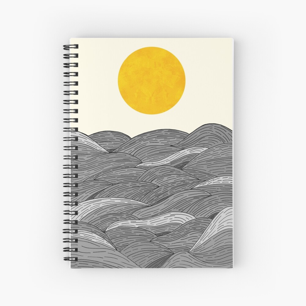 The Grey Waves Spiral Notebook