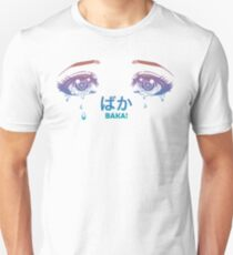Kawaii Anime Manga Eyes - Teardrops Baka Tattoo T-Shirt