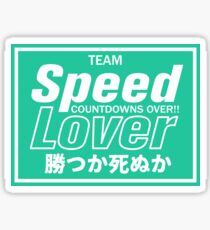 Speed Speed Lover Sticker Decal Slap Sticker