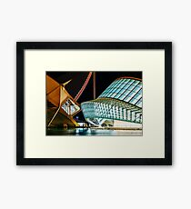 Calatrava City Of Arts And Sciences In Downtown City Of Valencia Framed Print