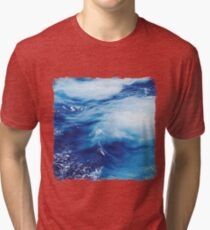 Blue Ocean Water Waves Tri-blend T-Shirt