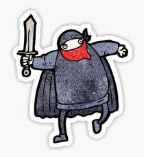 cartoon bandit Sticker