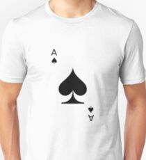 Aces of Spades Playing Card Unisex T-Shirt
