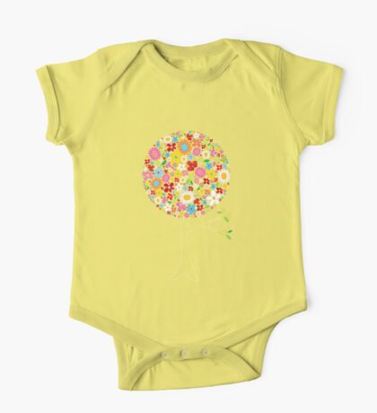 Whimsical Colorful Spring Flowers Pop Tree Kids Clothes