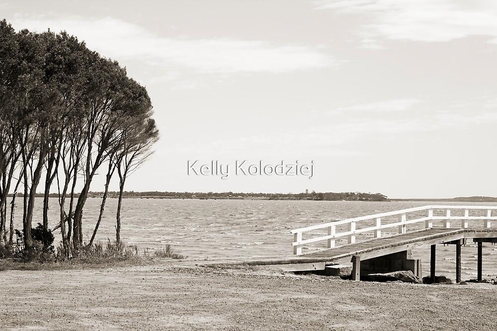 Little Pier with Trees by Kelly Kolodziej