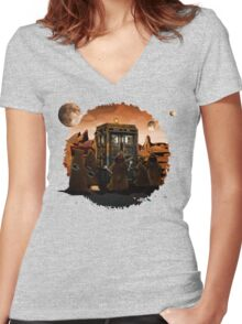 wrecked time and space traveller Box with junk collector Women's Fitted V-Neck T-Shirt