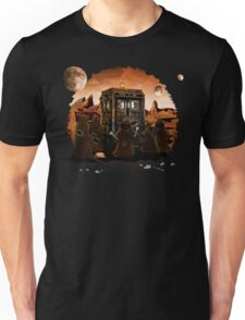 wrecked time and space traveller Box with junk collector Unisex T-Shirt