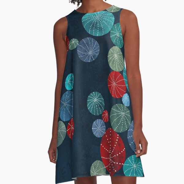 Colorful cactus field A-Line Dress