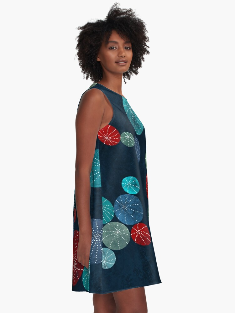 Alternate view of Colorful cactus field A-Line Dress
