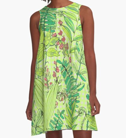 Greenery pattern nº1 A-Line Dress