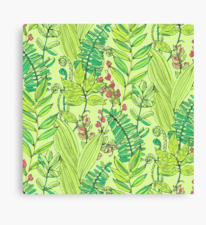 Greenery pattern nº1 Canvas Print