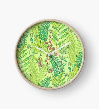Greenery pattern nº1 Clock
