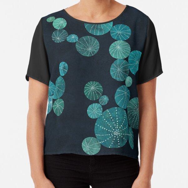 Turquoise cactus field Chiffon Top