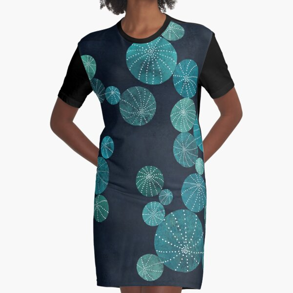 Turquoise cactus field Graphic T-Shirt Dress