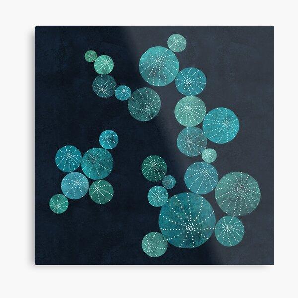 Turquoise cactus field Metal Print
