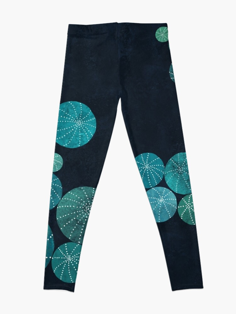 Alternate view of Turquoise cactus field Leggings