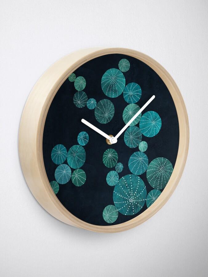 Alternate view of Turquoise cactus field Clock