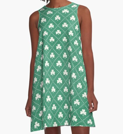 Shamrock On! - emerald A-Line Dress