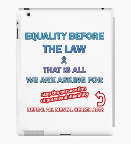 Equality Before the Law iPad Case/Skin