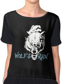Wolf Animal Vector Chiffon Top