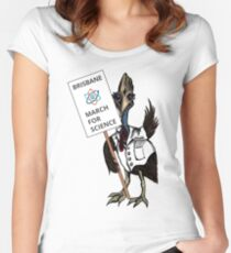 March for Science Brisbane – Cassowary, full color Women's Fitted Scoop T-Shirt
