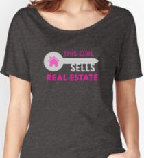 This Girl Sells Real Estate Funny Realtor Agent  Women's Relaxed Fit T-Shirt