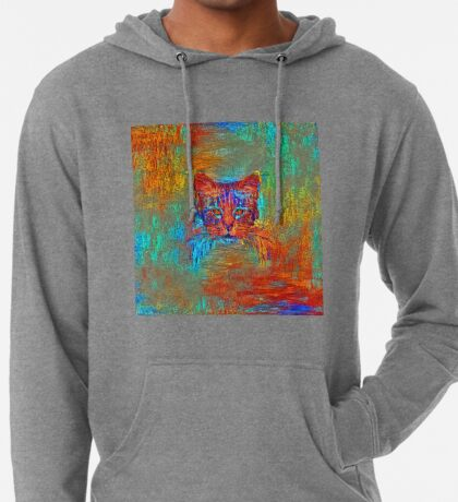 Ninja cat hiding in Modern #Art Lightweight Hoodie