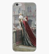 Edmund Blair Leighton - A Little Prince Likely In Time To Bless A Royal Throne iPhone Case