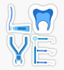 Dentistry Love Proud Dentist Funny Dental Assistant Gift  Sticker