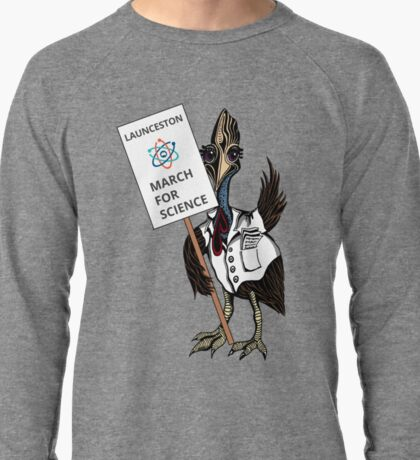 March for Science Launceston – Cassowary, full color Lightweight Sweatshirt