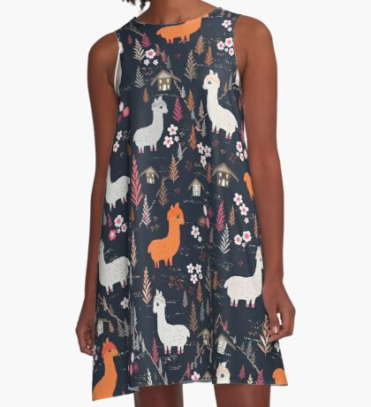 Mountain Chalet Alpacas A-Line Dress