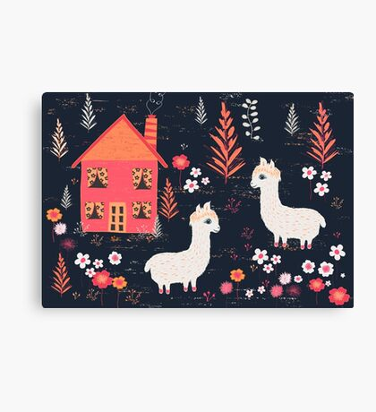 Mountain Chalet Alpacas Canvas Print