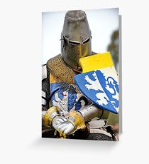 Knight in Chainmail  Greeting Card