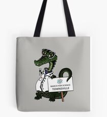 March for Science Townsville – Crocodile, full color Tote Bag