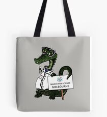 March for Science Melbourne – Crocodile, full color Tote Bag