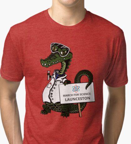 March for Science Launceston– Crocodile, full color Tri-blend T-Shirt