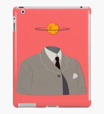 Man Silhouette Suit Tie Globe Earth Head Concept iPad Case/Skin