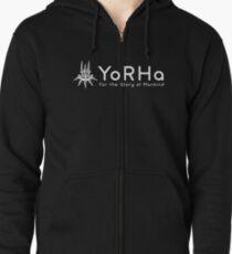 YoRHa - White Zipped Hoodie