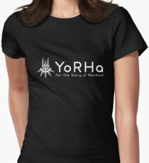 YoRHa - White Women's Fitted T-Shirt