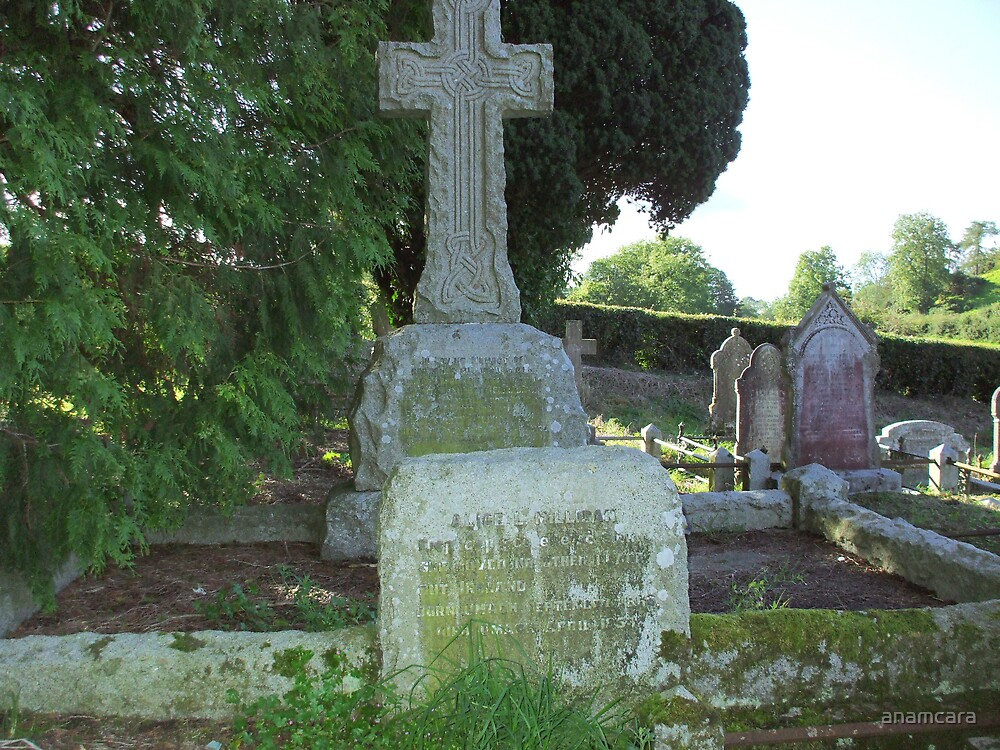 Poet Alice Milligan's grave near Omagh, Ireland by anamcara