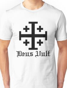 Crusader Cross - Deus Vult Unisex T-Shirt