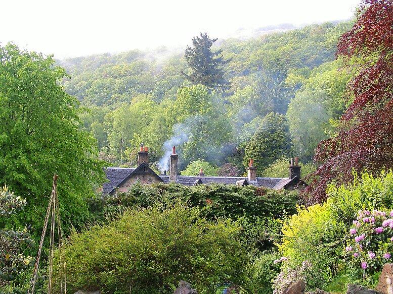 Aberfoyle Scotland Morning smoke by John  Simmons