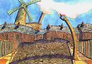163 - HODGSON'S MILL, BLYTH (FIRST VERSION) - DAVE EDWARDS - WATERCOLOUR - 2006 by BLYTHART