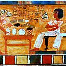 Egyptian painting by annalisa bianchetti